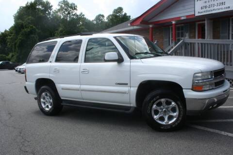 2002 Chevrolet Tahoe for sale at Peach State Motors Inc in Acworth GA