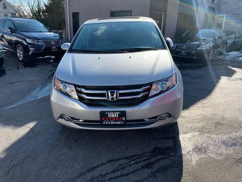 2014 Honda Odyssey for sale at H & H Motors 2 LLC in Baltimore MD