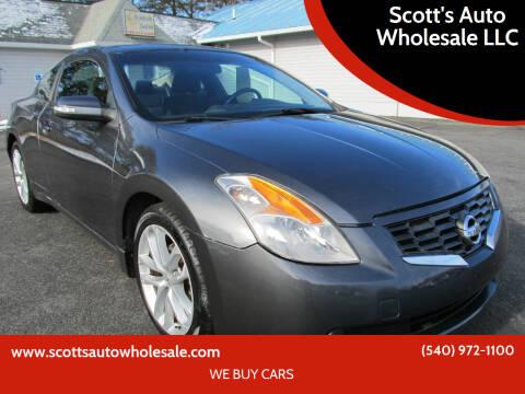 2009 Nissan Altima for sale at Scott's Auto Wholesale LLC in Locust Grove VA