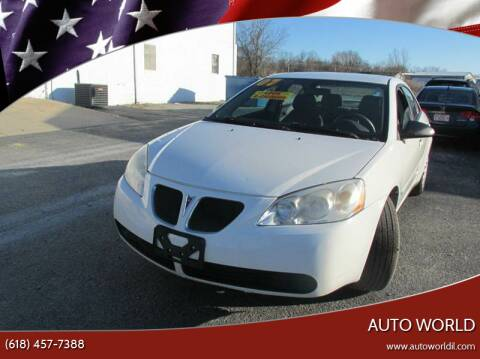 2007 Pontiac G6 for sale at Auto World in Carbondale IL