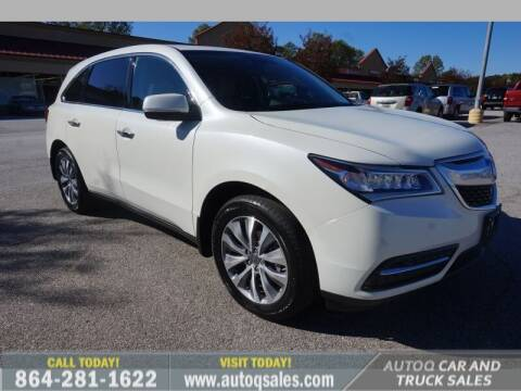 2014 Acura MDX for sale at Auto Q Car and Truck Sales in Mauldin SC