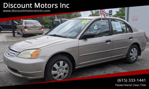 2001 Honda Civic for sale at Discount Motors Inc in Nashville TN