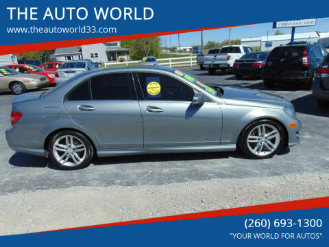 2013 Mercedes-Benz C-Class for sale at THE AUTO WORLD in Churubusco IN