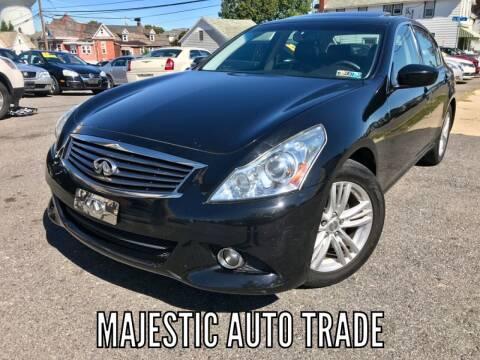 2012 Infiniti G37 Sedan for sale at Majestic Auto Trade in Easton PA