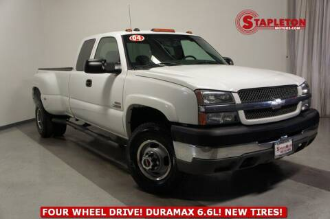 2004 Chevrolet Silverado 3500 for sale at STAPLETON MOTORS in Commerce City CO