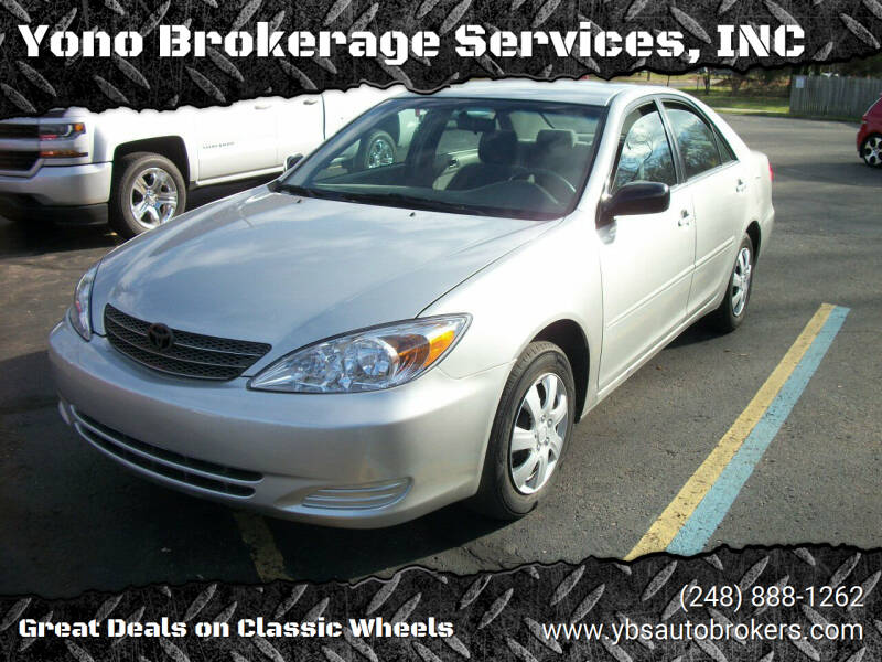 2003 Toyota Camry for sale at Yono Brokerage Services, INC in Farmington MI