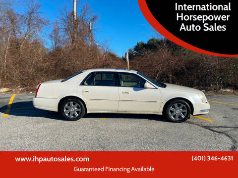 2007 Cadillac DTS for sale at International Horsepower Auto Sales in Warwick RI