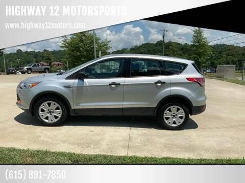 2016 Ford Escape for sale at HIGHWAY 12 MOTORSPORTS in Nashville TN