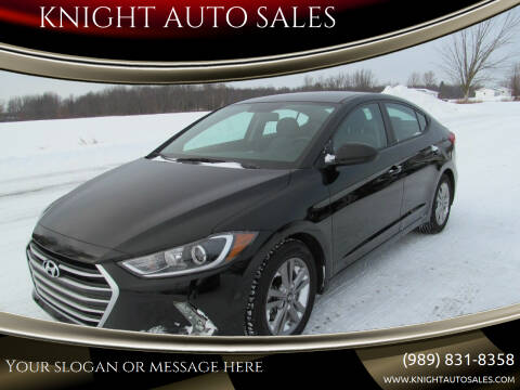 2017 Hyundai Elantra for sale at KNIGHT AUTO SALES in Stanton MI