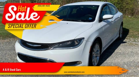 2015 Chrysler 200 for sale at A & R Used Cars in Clayton NJ