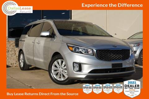 2017 Kia Sedona for sale at Dallas Auto Finance in Dallas TX