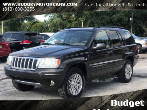 2004 Jeep Grand Cherokee for sale at Budget Motorcars in Tampa FL