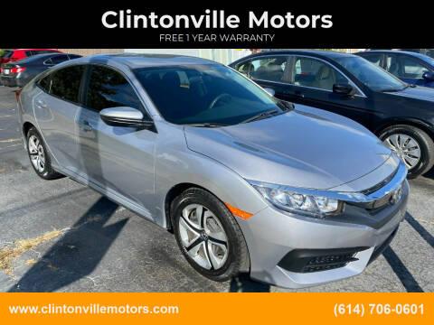 2017 Honda Civic for sale at Clintonville Motors in Columbus OH