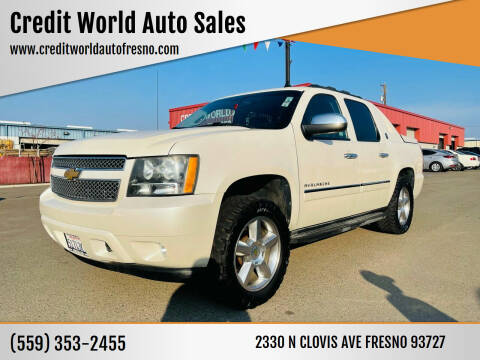 2013 Chevrolet Avalanche for sale at Credit World Auto Sales in Fresno CA