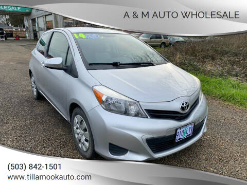 2014 Toyota Yaris for sale at A & M Auto Wholesale in Tillamook OR