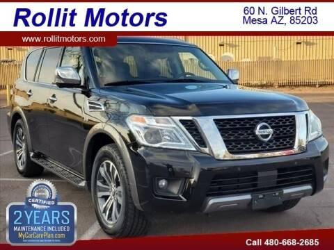 2019 Nissan Armada for sale at Rollit Motors in Mesa AZ