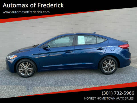 2018 Hyundai Elantra for sale at Automax of Frederick in Frederick MD