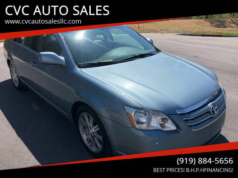 2005 Toyota Avalon for sale at CVC AUTO SALES in Durham NC