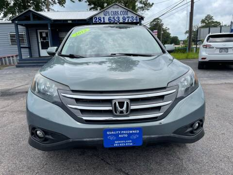 2012 Honda CR-V for sale at QUALITY PREOWNED AUTO in Houston TX