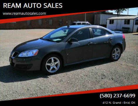 2009 Pontiac G6 for sale at REAM AUTO SALES in Enid OK
