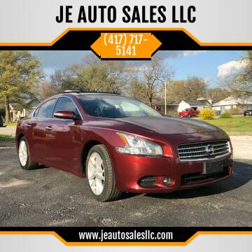 2010 Nissan Maxima for sale at JE AUTO SALES LLC in Webb City MO