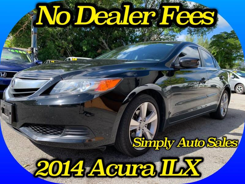 2014 Acura ILX for sale at Simply Auto Sales in Palm Beach Gardens FL