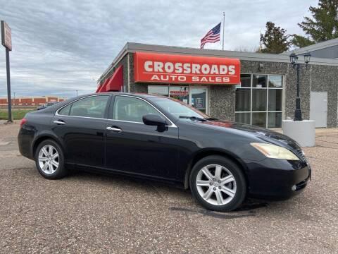 2007 Lexus ES 350 for sale at CROSSROADS AUTO SALES OF EAU CLAIRE, LLC in Eau Claire WI