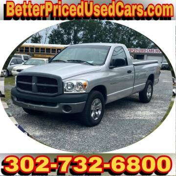 2007 Dodge Ram Pickup 1500 for sale at Better Priced Used Cars in Frankford DE