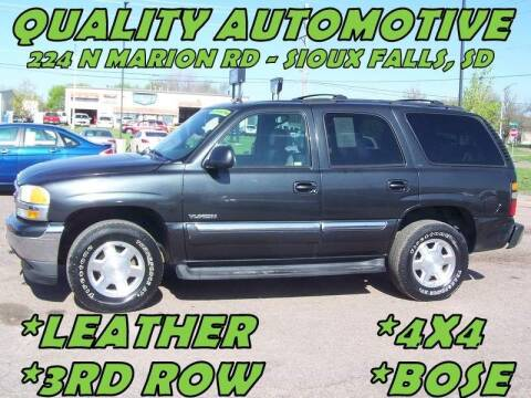 2005 GMC Yukon for sale at Quality Automotive in Sioux Falls SD
