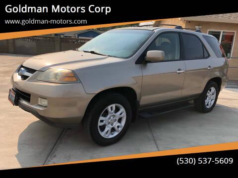 2004 Acura MDX for sale at Goldman Motors Corp in Stockton CA