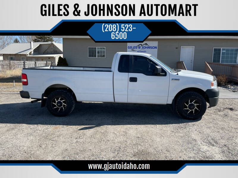 2008 Ford F-150 for sale at GILES & JOHNSON AUTOMART in Idaho Falls ID