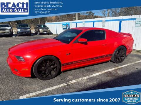 2014 Ford Mustang for sale at Beach Auto Sales in Virginia Beach VA