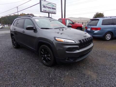 2014 Jeep Cherokee for sale at J & D Auto Sales in Dalton GA