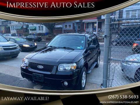2007 Ford Escape for sale at Impressive Auto Sales in Philadelphia PA
