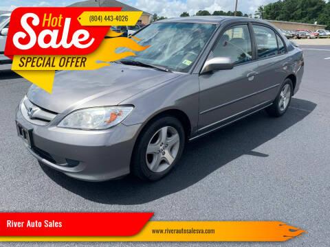 2005 Honda Civic for sale at River Auto Sales in Tappahannock VA