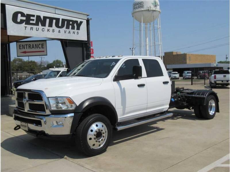 2016 RAM Ram Chassis 5500 for sale at CENTURY TRUCKS & VANS in Grand Prairie TX