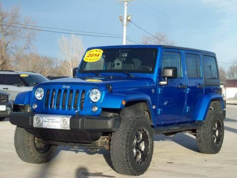 2014 Jeep Wrangler Unlimited for sale at Nemaha Valley Motors in Seneca KS