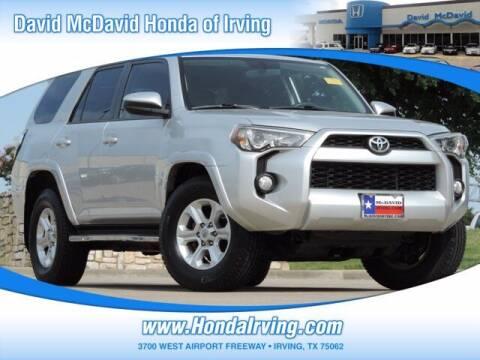 2015 Toyota 4Runner for sale at DAVID McDAVID HONDA OF IRVING in Irving TX