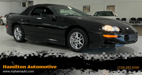 2002 Chevrolet Camaro for sale at Hamilton Automotive in North Huntingdon PA