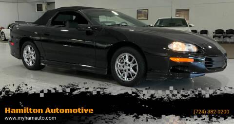2002 Chevrolet Camaro for sale at Hamilton Automotive in North Huntingdon PA