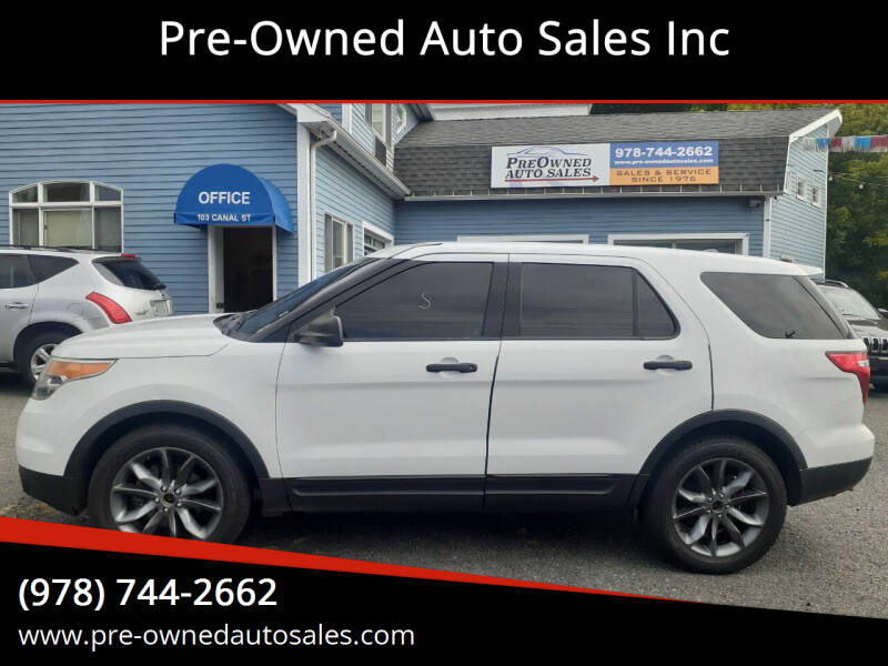 2014 Ford Explorer for sale at Pre-Owned Auto Sales Inc in Salem MA