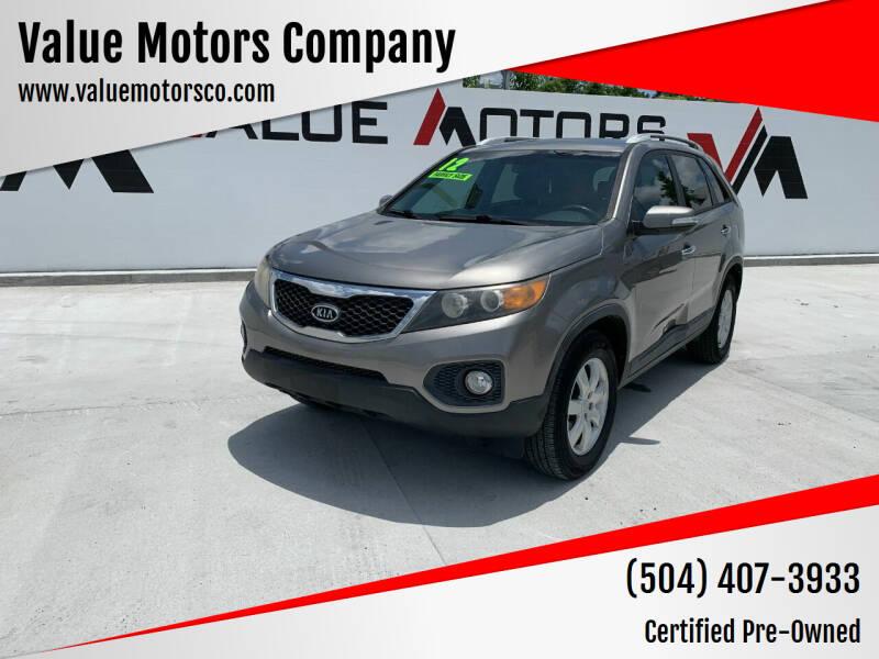 2012 Kia Sorento for sale at Value Motors Company in Marrero LA
