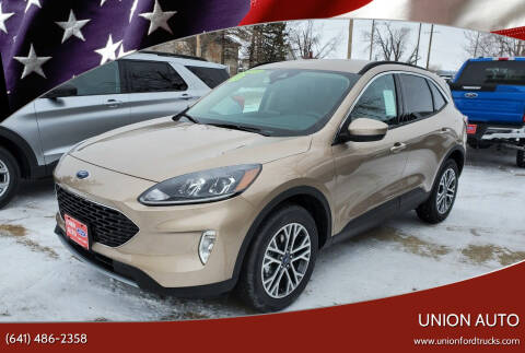 2020 Ford Escape for sale at Union Auto in Union IA