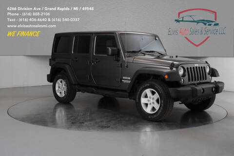 2017 Jeep Wrangler Unlimited for sale at Elvis Auto Sales LLC in Grand Rapids MI