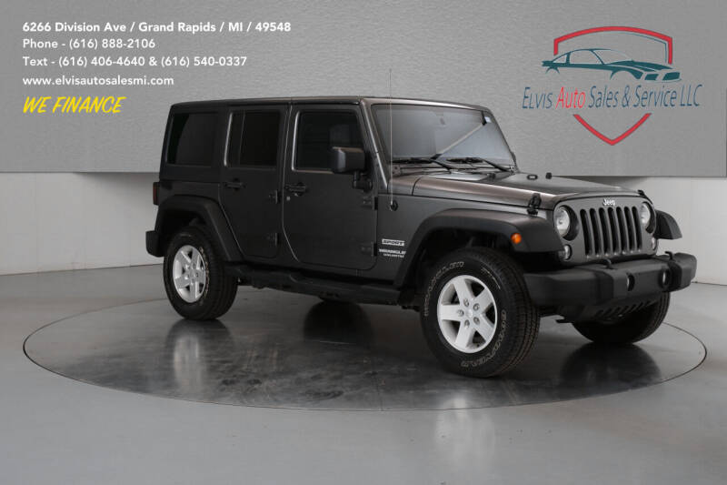 2017 Jeep Wrangler Unlimited for sale at Elvis Auto Sales LLC in Grand Rapids MI