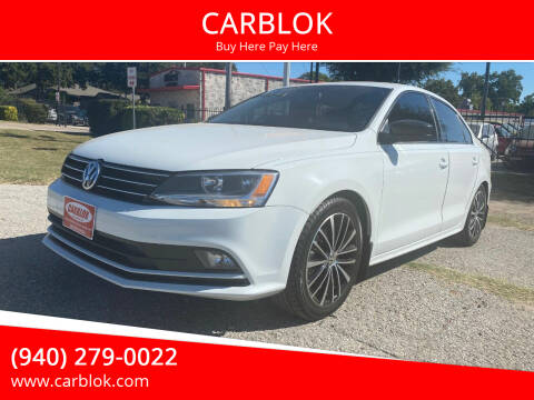 2016 Volkswagen Jetta for sale at CARBLOK in Lewisville TX