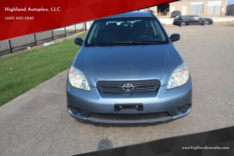 2007 Toyota Matrix for sale at Highland Autoplex, LLC in Dallas TX