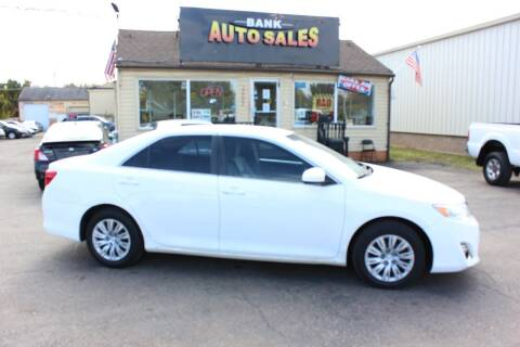 2013 Toyota Camry for sale at BANK AUTO SALES in Wayne MI