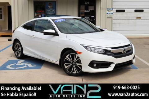 2018 Honda Civic for sale at Van 2 Auto Sales Inc in Siler City NC