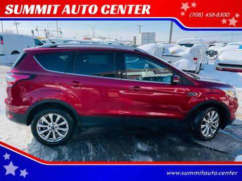 2018 Ford Escape for sale at SUMMIT AUTO CENTER in Summit IL